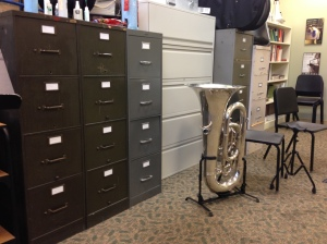 Seriously, most of these file cabinets are completely filled with sheet music. Who is going to scan it all?!?