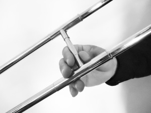 Figure 8.2 Trombone Right Hand Position